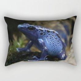 Blue Poison Arrow Frog Rectangular Pillow
