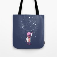 constellation Tote Bags featuring Constellation by Freeminds