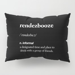 Rendezbooze black and white contemporary minimalism typography design home wall decor black-white Pillow Sham