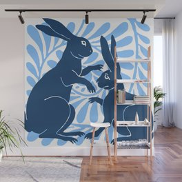 "William De Morgan ""Boxing Hares"" 3. Wall Mural"