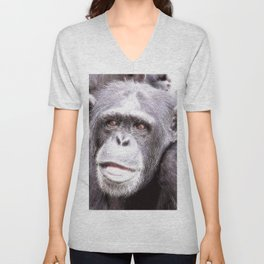 extraordinary animals -Chimp Unisex V-Neck
