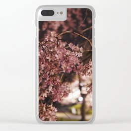 Weeping Cherry Blossoms Clear iPhone Case
