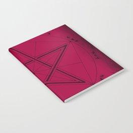 Goth Star Pattern Notebook