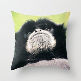 Chimp Selfie Throw Pillow