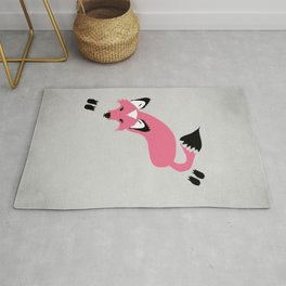 Foxier Roxy (Pink/Gray color option) Rug