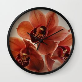 A Peach Orchid Pyramid Wall Clock
