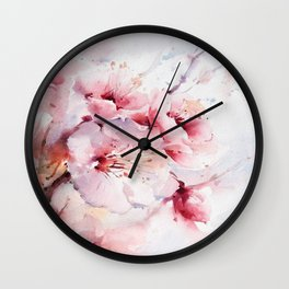 Peach Blossom - Painting Wall Clock