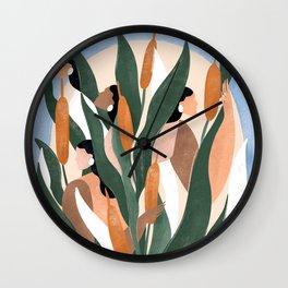 Cattails Wall Clock