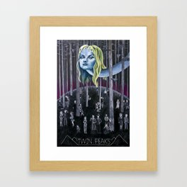 Who Killed Laura Palmer? ( Twin Peaks with Title ) Framed Art Print