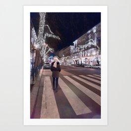BUDAPEST STREET PHOTOGRAPHY Art Print