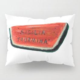 Fan's illustration - Watermelon ceramic in Taormina Sicilia Pillow Sham