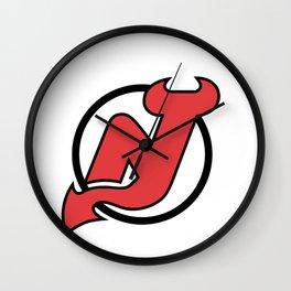 New Jersey Devil Logo Wall Clock