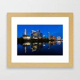 Blue Austin Framed Art Print