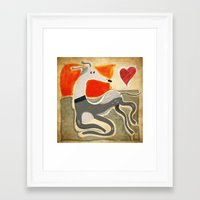 greyhound Framed Art Prints featuring Greyhound by elgaga