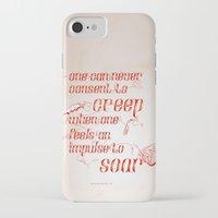 helen green iPhone & iPod Cases featuring Soar - Illustrated quote of Helen Keller by VonFires (Adele van Vuuren)