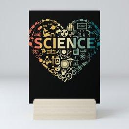 I Love Science - Science Chemistry Biology Quantum Physics Math STEM Mini Art Print