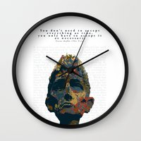 kafka Wall Clocks featuring Kafka by Ned & Ems