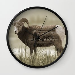 Hungry Goats Wall Clock