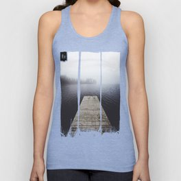 Fading into the mist Unisex Tank Top