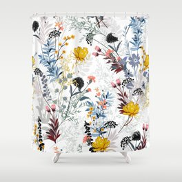 organic floral print Shower Curtain