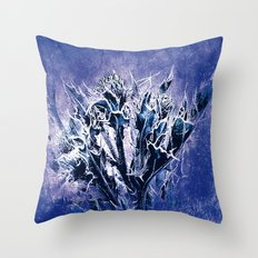 Thistle and Weeds_deep purple Throw Pillow