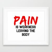 pain Framed Art Prints featuring Pain by Spooky Dooky