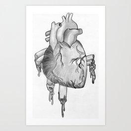Heart Sketch Art Print