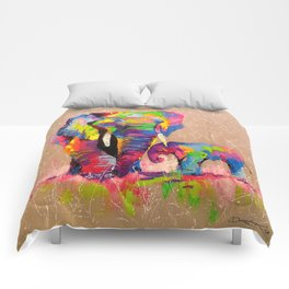 Elephants mother and son Comforters