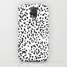 Nadia - Black and White, Animal Print, Dalmatian Spot, Spots, Dots, BW Slim Case Galaxy S5