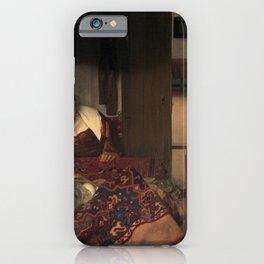 Johannes Vermeer - A Girl Asleep iPhone Case