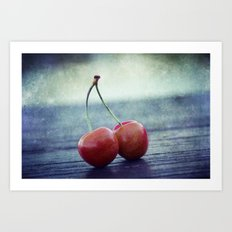 Cherry Kiss Art Print