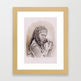 Danai Gurira as Michonne from The Walking Dead Framed Art Print