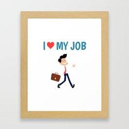 job Framed Art Print