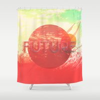 future Shower Curtains featuring Future by SeraphimChris