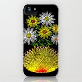 String Art Flowers iPhone Case