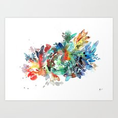 Neuronal Plasticity Art Print