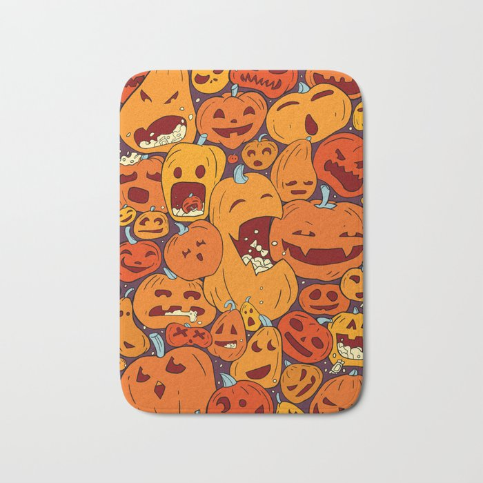 Halloween pumpkin pattern Bath Mat