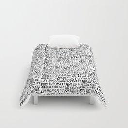 Ink Alphabet Comforters