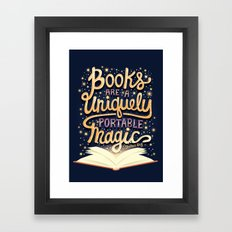 Books are magic Framed Art Print