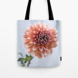 Dahlia in Soft Light Tote Bag