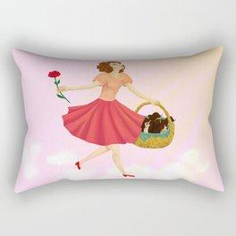 La Vie en Rose Rectangular Pillow