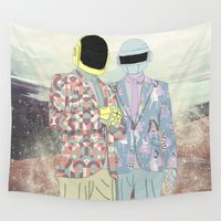 daft punk Wall Tapestries featuring Daft Punk. by Lucas Eme A