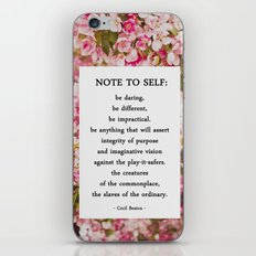 note to self. iPhone & iPod Skin