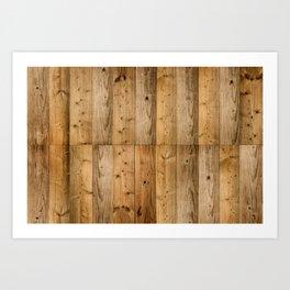 Wood Planks Dark Art Print