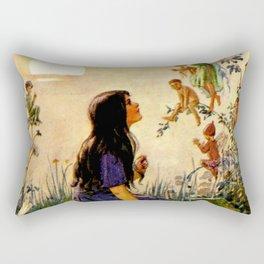 """Vintage Fairies' by Margaret Tarrant Rectangular Pillow"