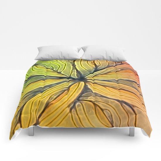 Doodled Aura-Leah Digitized Macro Comforters