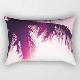 pink palm tree silhouettes kihei tropical nights Rectangular Pillow