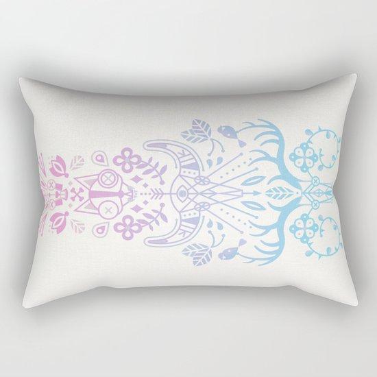 La Vie + La Mort: Rose Quartz & Serenity Ombré Rectangular Pillow