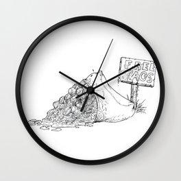Free Tacos Wall Clock