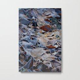 Sparkly Leaves Metal Print